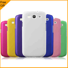 Luxury Multicolor Matte Hard Plastic Protective Case Back Cover Case For Samsung Galaxy S3 I9300 Cell Phone Case With Gift Black