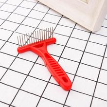 Pet Cat Dog stainless steel red Thick Long Short Hair Fur Shedding Remove Grooming Rake Comb Brush