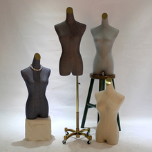 Modern half body props female fashion models with vientiane all round base women fabric mannequin