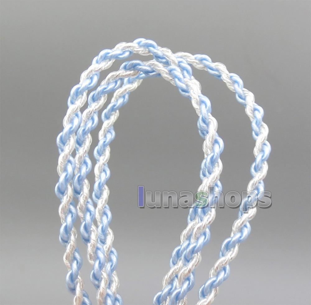 1.2m GY-Seiris 5N OCC Silver Mic Remote Volume PVC Cable For MMCX Shure se846 se535 se425 se315 se215 LN005897