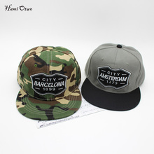 Men's Snapback Camouflage Baseball Cap Tactical Barcelona Amsterdas hip hop Hat men Sun Hat street dancing Hats caps(China)