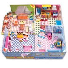 Candice guo! Hot sale 3D jigsaw puzzle CubicFun DIY paper model honey room baby girl love most 1pc(China)