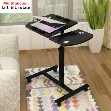 Notebook computer desk bed learning with household lifting folding mobile bedside table (40*20)*40cm(China)