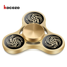 Buy Fidget Spinner Metal Tri-Spinner Fidget EDC Gold Hand Spinner Autism Rotation Time Long Anti Stress Educational Toys Hobbies for $19.61 in AliExpress store