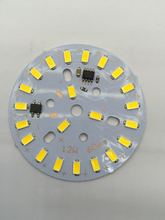 5pcs 220V High pressure LED lamp plate ceiling lamp renovation board lamp patch 12W bulb 60mm lamp patch(China)