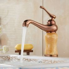 Bathroom Basin Faucet  Contemporary Antique Brass Mixer Tap With Ceramic Sink Faucet Bath Mixer Cold Single Handle Water Taps