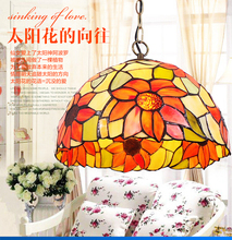 Tiffany Pendant Light Colorful glass cover Personalized Pendant lamp Tiffany Pendant lamp kitchen light , corridor light(China)