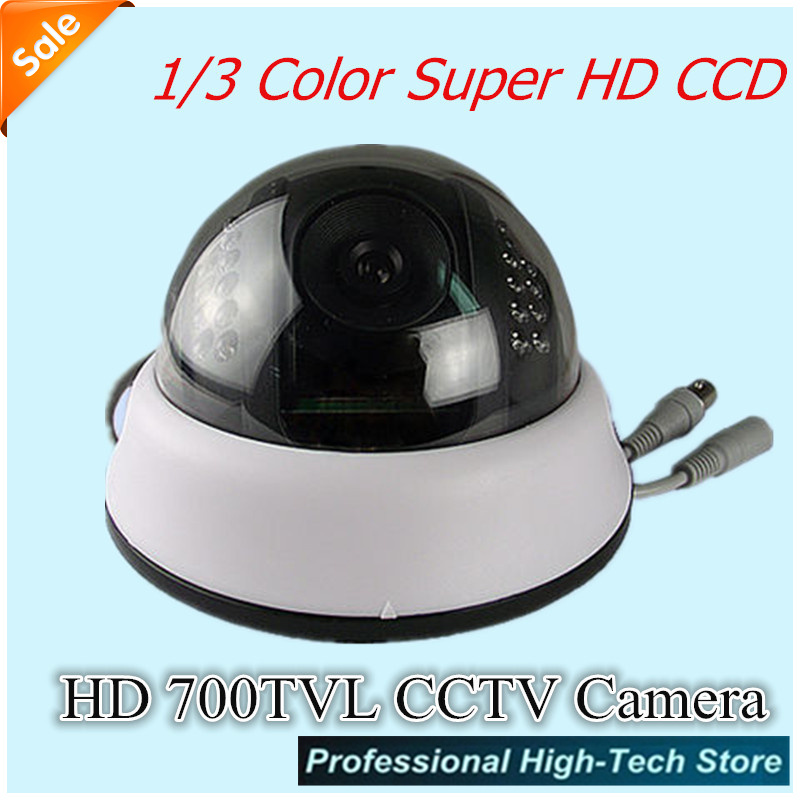 Free shipping New SONY CCD HD 700TVL CCTV Camera 1/3 Video Surveillance Security Camera with 24 Leds for Indoor/Outdoor<br><br>Aliexpress