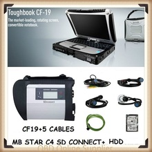 CF19 + MB Star C4 SD Connect + HDD Mercedes Star Diagnosis Xentry Diagnostics System Compact 4 Multiplexer For Benz Diagnose