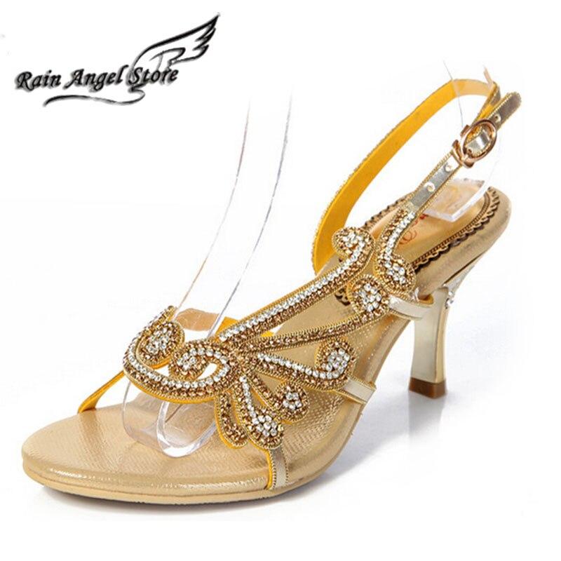 2015 New Sheepskin Sexy Pump Sandals Women Sandal Ladies High Heel Sandals Women Rhinestone Shoes sandalias femininas salto alto<br><br>Aliexpress