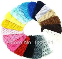 "Bulk Sale 1.5""  Cheap Low Price 120pcs New Hot Crochet Girl Headband Crochet Headwrap Headbands Headwear Assorted 12 Colors"