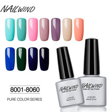 NAILWIND 8ML Gel Nail Polish Pure 60 Colors Primer Soak Off UV LED For Manicure semipermanent Design of Nail Gel Varnish Lacquer(China)