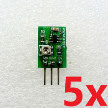 5pcs DC DC Converter Step Down Buck 40-5V to 0.9-30V Adjustable Power Supply Module repl 7812 7805 AMS1117 LM2596(China)
