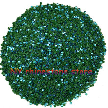 Hotfix rhinestone,1440pcs/bag,SS5(1.6mm) B Grade,Peacock blue glass Crystal Rhinestone Garment Accessories for dress,clothes,hat