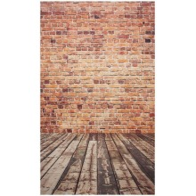 3x5FT Brick Wall Photography Backdrop Photo Wooden Floor Background Studio Photo Backgrounds for photography parties bars