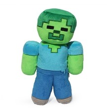 2017 Luxury Minecraft Plush Toys 18CM Green Zombie Soft Plush Stuffed Toys Brand Plush Dolls Kids Favor Gift For Boys Child(China)