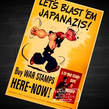 BUY WAR STAMPS BLASH JAPANAZIS US War Propaganda WW2 Vintage Retro Poster Decorative DIY Wall Sticker Posters Home Decor Gift(China)