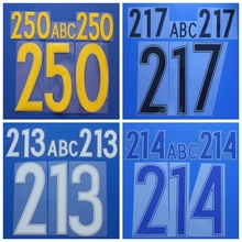 Yellow black white blue red number letter DIY custom basketball football font print ,stamping Soccer patches badges
