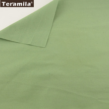 Home Textile TERAMILA Sewing Material Tissu Tablecloth Cushion Pillow Zakka Solid Deep Green Color Design Cotton Linen Fabric(China)