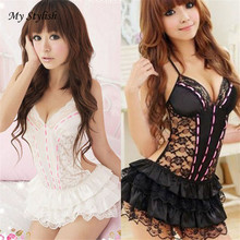 Buy Hot 2018 New Fashion Lace Sexy Passion Lingerie Backless Halter Babydoll G-string Dress High Quality Wholesale Black Jan 19