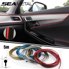 5M on Car Interior Decoration Strips Mouldings Trims Door Dashboard Thread Stickers Auto Accessories For BMW Audi VW Ford Nissan