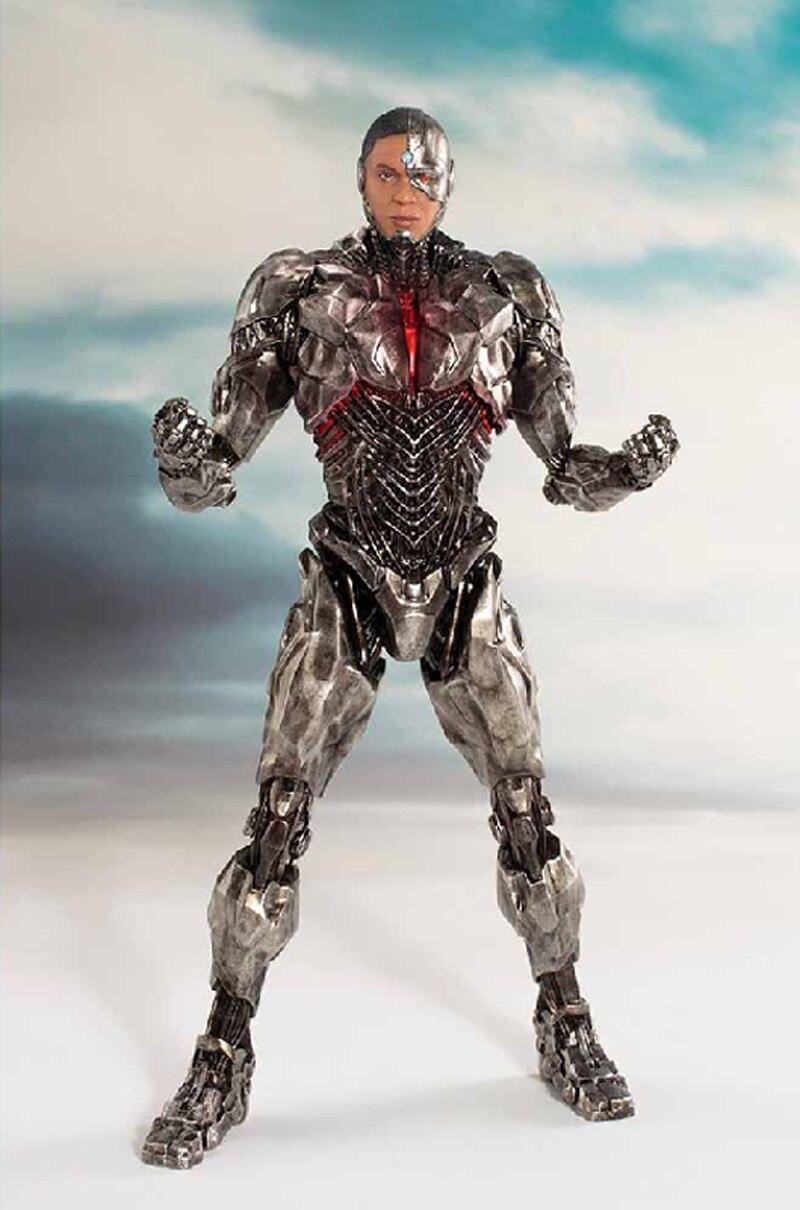 DC Justice League The Flash Cyborg Wonder Woman Batman Superman Statue ARTFX Action Figures Collection Model Toy Doll (8)