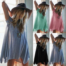 Buy 2018 New Arrival Sexy Fashion Womens Dress Casual Loose Chiffon Short Sleeve Vestidos Women Chiffon Dress for $3.50 in AliExpress store