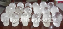 10 NATURAL SMALL CLEAR QUARTZ CRYSTAL SKULLS CARVED Wholesales Price,Free Shipping