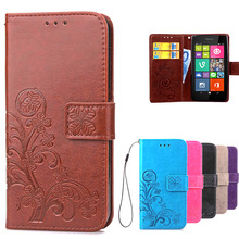 Aiqaa Amazing Case For Nokia Lumia 530 Leather Flip Wallet Cover Case For Microsoft Nokia Lumia 530 phone case with Card Holder