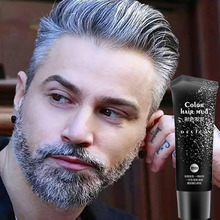 Disposable Silver Gray Color Hair Gel Cream Temporary Color Hair Wax Pomade Mud Product for Quickly Modeling Man and Woman(China)
