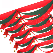 2/3/5 Meter Wave Flag Fabric Flag Party Xmas Decoration Christmas Waves Flags Bells Ceiling Decoration Flags Banner Pe