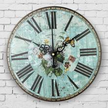 Mediterranean style bedroom decor watch wall retro silent wall clock roman number antique wall decor clocks orologi da parete