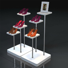 Free Shipping White Wooden Store Display Shoe Shelf Shoe Shelves Clothing shelf Shoe Display Window display(China)