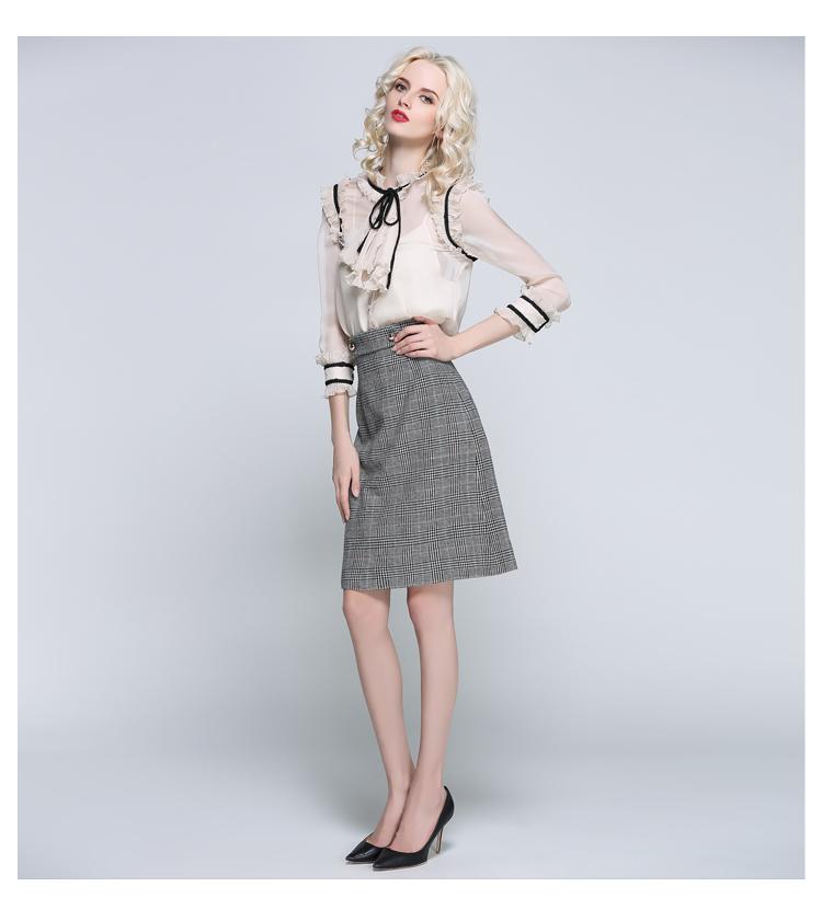 Women Houndstooth Skirt (14)