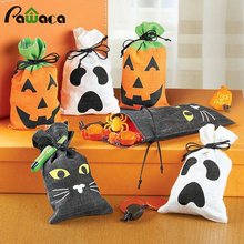 Happy Halloween Candy gift bag Drawstring packaging cloth bags Party Pumpkin Bag for childrens Wedding Party Decoration kit(China)
