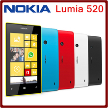 Original Nokia Lumia 520 Dual Core 3G WIFI GPS 5MP Camera 8GB Storage 4.0inch Unlocked Mobile Phones