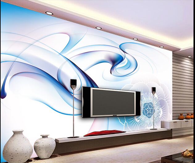 The latest custom 3D murals,fantasy dynamic smoke lines flowers, living room sofa TV wall bedroom background wall paper<br>