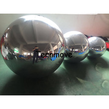 inflatable mirror balloon/ball Outdoor Durable Custom giant PVC inflatable christmas ornaments ball(China)