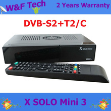 Newest DVB-S2+DVB-T2/C satellite tv receiver X solo mini 3 1200MHz  Dual DMIPS Processor linux system with WIFI adapter