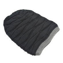 Freeshipping High Quality Rhombus Pattern Tricorne Knit Winter Warm Crochet Hat Braided Beanie Cap(China)