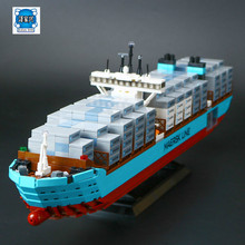 Lepins 1518Pcs Technic Series The Maersk Cargo Container Ship Set Educational Building Blocks Bricks Model Toys Figures Gift(China)