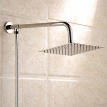 8 inch Square Shower head with shower arm and shower hose Ultra thin Rainfall  Stainless Steel Bathroom shower head