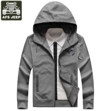AFS JEEP Brand Jacket Men Coat Male Casual Mens Autumn Jacket Hooded Collar Hoodies Print Army Military Veste Homme Windbreaker