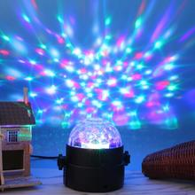Colorful LED Crystal Magic Rotating Ball Stage Light 4m USB 5V ktv DJ Light Disco Lights LED Projector Light Atmosphere Lamps(China)