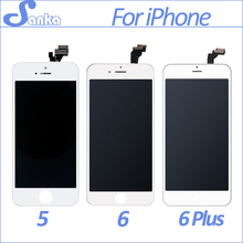 SANKA AAA For Apple iPhone 5S 5 6 6Plus LCD Display Touch Screen Full Set Digitizer Replacement Assembly LCD Phone Parts