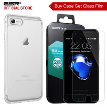 Case for iPhone 8/8 Plus, ESR Soft TPU Bumper Hard PC Hybrid Case for iPhone 7/7P Free gift [Buy 1 case get 1 Glass Screen Film](China)