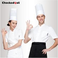 Cook suit Summer Work wear Short-sleeve Chef uniform Chef shirt Chef jacket Women 2016