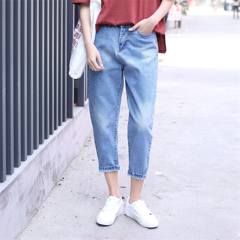 Yichaoyiliang 2017 Summer Light Blue Boyfriend Jeans for Women Ankle Length Loose Denim Harem Pants Casual Black JeansОдежда и ак�е��уары<br><br><br>Aliexpress