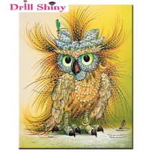 15D DIY Diamond Owl 4 Colors All Diammond Pet Embroidery 3D Cross Stitch Kit New Listing Sewing Card