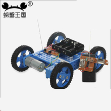 PW M22 DIY Mini Car Model with Remote Controller Gear Motor Technology Invention Funny Puzzle Education Car Toy(China)
